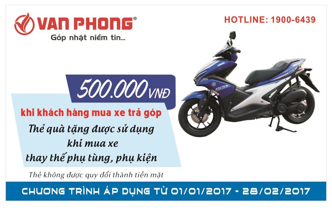 Hồng Phát – Tặng ngay Voucher 500K cho khách hàng mua xe trả góp