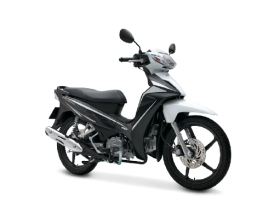 Honda Blade 110cc - thể thao - đen trắng