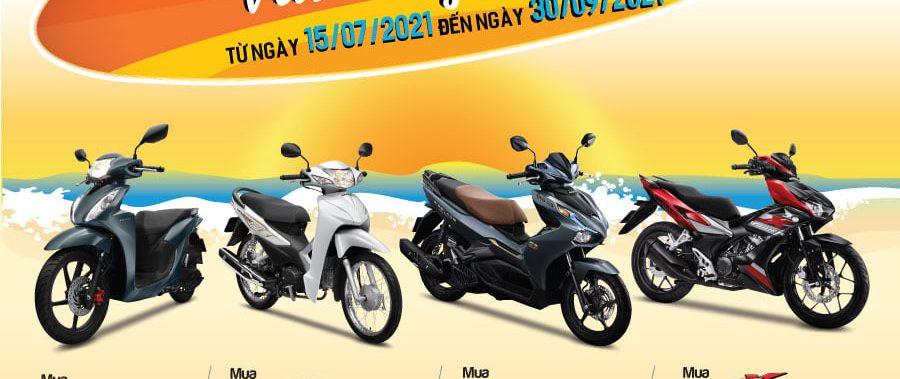 """Honda Việt Nam dành ưu đãi hấp dẫn cho khách hàng mua xe Wave Alpha, VISION, Air Blade & WINNER X – """"Mua Honda mới, Vui cùng hè tới"""""""