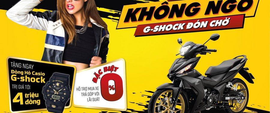 """Rinh quà hấp dẫn cùng Honda WINNER 150 – """"Lãi suất không ngờ, G-shock đón chờ"""""""