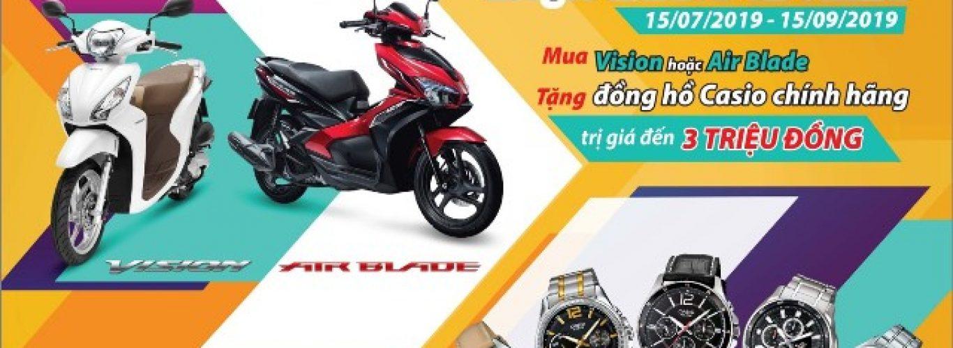 """Rinh quà hấp dẫn cùng Honda VISION 110cc & Air Blade 125cc  – """"Đi Honda chất. Diện Casio là nhất"""""""